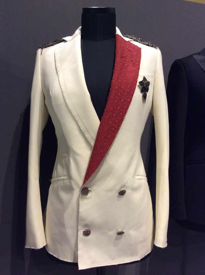 The man's jacket designed for woman