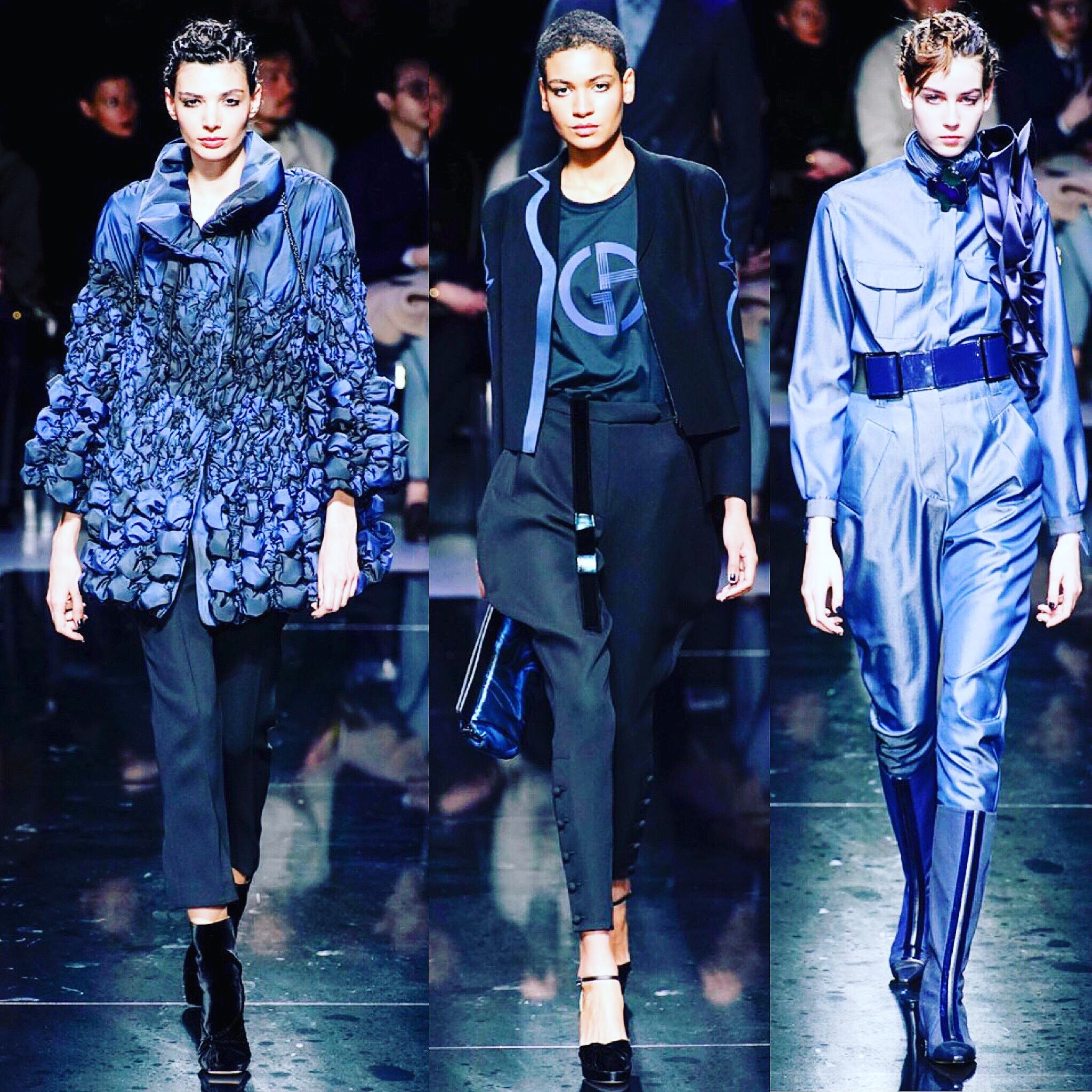 The blue lesson of Giorgio Armani